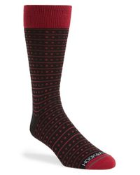 Hook + Albert | Pink Dot & Stripe Socks for Men | Lyst