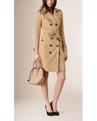 Burberry | Natural The Small Orchard In Embossed Check Leather Pale Apricot | Lyst