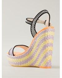 Sophia Webster - Purple 'Lucita' Wedge Sandals - Lyst