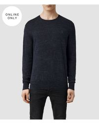 AllSaints | Blue Rosso Crew Jumper for Men | Lyst