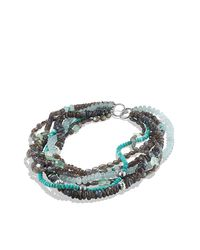 David Yurman - Metallic Dy Signature Necklace With Labradorites And Turquoises - Lyst