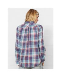 Denim & Supply Ralph Lauren - Blue Fullham Plaid Utility Shirt - Lyst