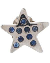 Andrea Fohrman | Metallic White Gold Sapphire Star Stud | Lyst