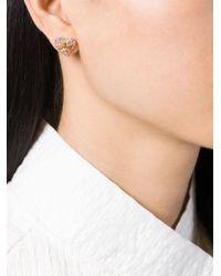Vivienne Westwood Anglomania | Pink Diamante Heart Stud Earrings | Lyst