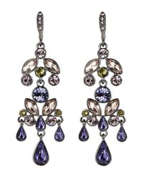 Givenchy | Hematite-Tone & Purple Chandelier Earrings | Lyst