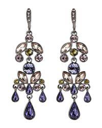 Givenchy | Hematite-Tone & Purple Chandelier Earrings | Lyst