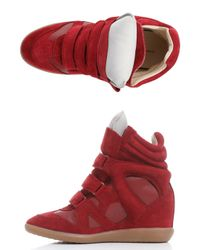 Isabel Marant   Red High-tops & Trainers   Lyst