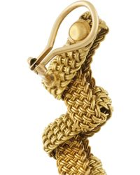 Fred Leighton | Metallic 1960S 14-Karat Gold Mesh Clip Earrings | Lyst