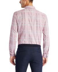 BOSS - Red 'nemos' | Slim Fit, Italian Cotton Button Down Shirt for Men - Lyst
