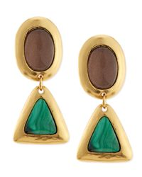 Stephanie Kantis | Metallic Crush Topaz  Malachite Earrings | Lyst