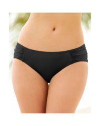 DKNY | Black Sidetab Cinchback Bikini Bottom | Lyst