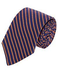 Barneys New York - Blue Diagonal-striped & Pin-dot Jacquard Necktie for Men - Lyst