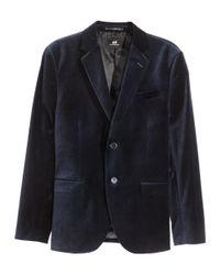 H&M | Blue Cotton Velvet Jacket for Men | Lyst