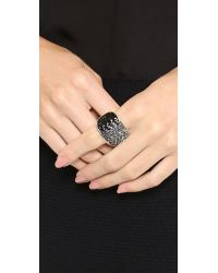 Nina Ricci - Crystal Ring - Grey/Black Multi - Lyst