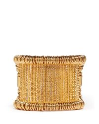 Alexander McQueen | Metallic Wire And Ring Cuff | Lyst