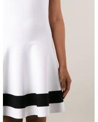 Victoria Beckham - White Flared Dress - Lyst