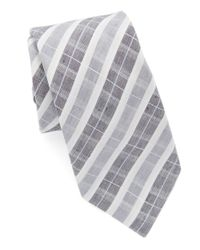 Vince Camuto | Gray Plaid Tie for Men | Lyst