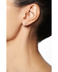 Maria Tash - Metallic 18k White Gold and Diamond Eternity Clicker Earring - Lyst