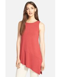 Eileen Fisher | Red Lightweight Jersey Tunic | Lyst