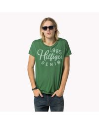Tommy Hilfiger | Green Long Printed T-shirt for Men | Lyst