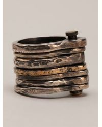 Tobias Wistisen | Metallic Stacked Rings for Men | Lyst