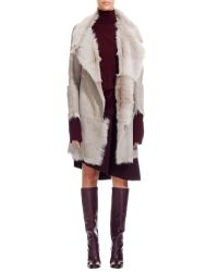Nicole Farhi | Gray Carioca Goat Skin Coat | Lyst