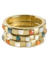 Vaubel | Multicolor Square Stone Triple Bangle | Lyst