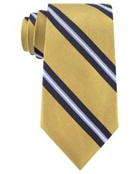 Tommy Hilfiger | Yellow Oxford Ribb Stripe Tie for Men | Lyst