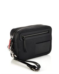 Christian Louboutin - Black Aliosha Leather Pouch for Men - Lyst