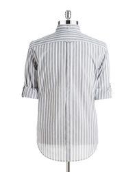 DKNY | Gray Striped Sportshirt for Men | Lyst