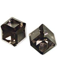 ABS By Allen Schwartz - Black Cube Stud Earrings - Lyst