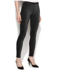 Michael Kors | Black Michael Petite Stretch Corduroy Leggings | Lyst