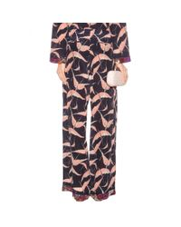 Valentino - Multicolor Printed Silk Trousers - Lyst