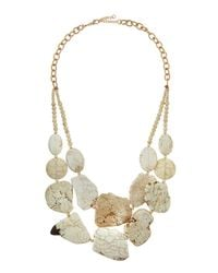 Panacea - White Howlite Double-Strand Statement Necklace for Men - Lyst