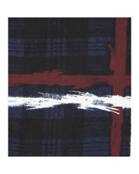 Marc By Marc Jacobs - Blue Chalky Tartan Printed Crêpe Skirt - Lyst