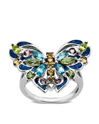 Lord & Taylor | Multicolor Multi-stone Butterfly Ring In Sterling Silver | Lyst