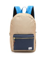 Herschel Supply Co. | Blue Settlement Backpack Khaki Polka Dot | Lyst