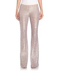 Michael Kors - Metallic Sequined Mesh Flared Pants - Lyst