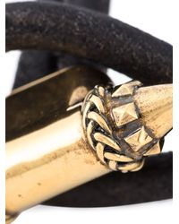 Alexander McQueen - Black Spike Charm Bracelet - Lyst