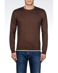 Armani Jeans - Brown Jumper In Cotton Blend for Men - Lyst