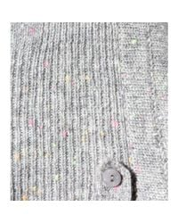 81hours - Gray Conor Speckled Asymmetrical Cashmere Poncho - Lyst