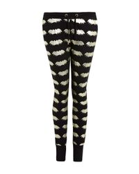 Zoe Karssen - Black Foiled Printed Bat Sweatpants - Lyst