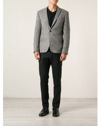Les Hommes - Black Classic Blazer for Men - Lyst