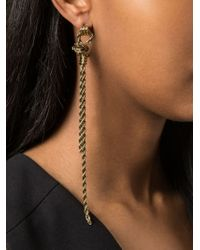 Lanvin | Metallic Braided Earrings | Lyst