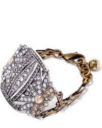 Lulu Frost | Metallic Gold-plated Larkspur Bracelet | Lyst