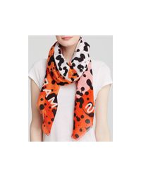Marc By Marc Jacobs - Multicolor Concentric Square Scarf - Safari Multi - Lyst