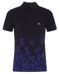 Vivienne Westwood | Blue Absence Of Roses Polo Shirt for Men | Lyst