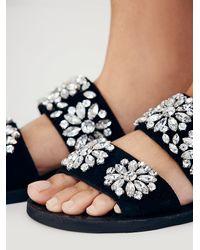 Free People - Black Jeffrey Campbell + Womens Surface Glitter Sandal - Lyst