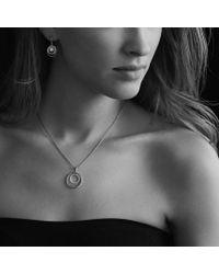 David Yurman | White Pearl Earrings with Diamonds | Lyst