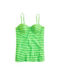 J.Crew | Green Sailor-stripe Underwire Swing Top | Lyst